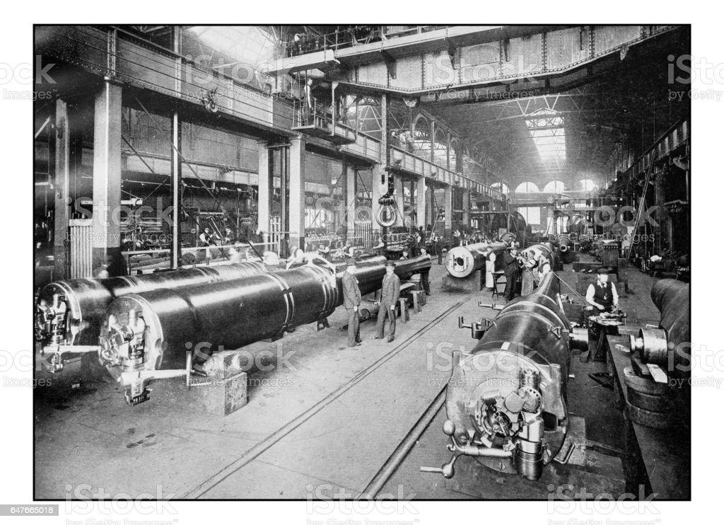 Antique London's photographs: Royal gun factory, Woolwich Arsenal stock photo