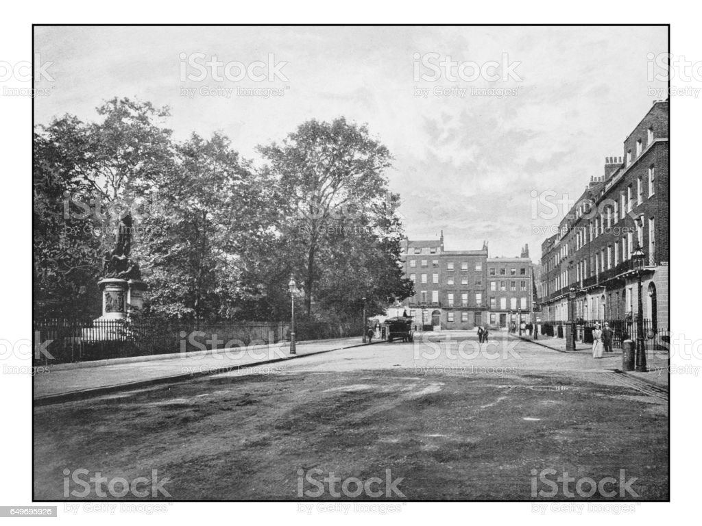 Antique London's photographs: Russel Square stock photo