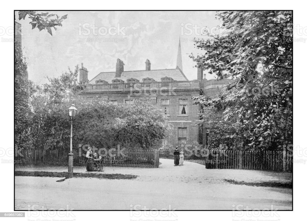 Antique London's photographs: Thackeray's House, Palace Gardens stock photo