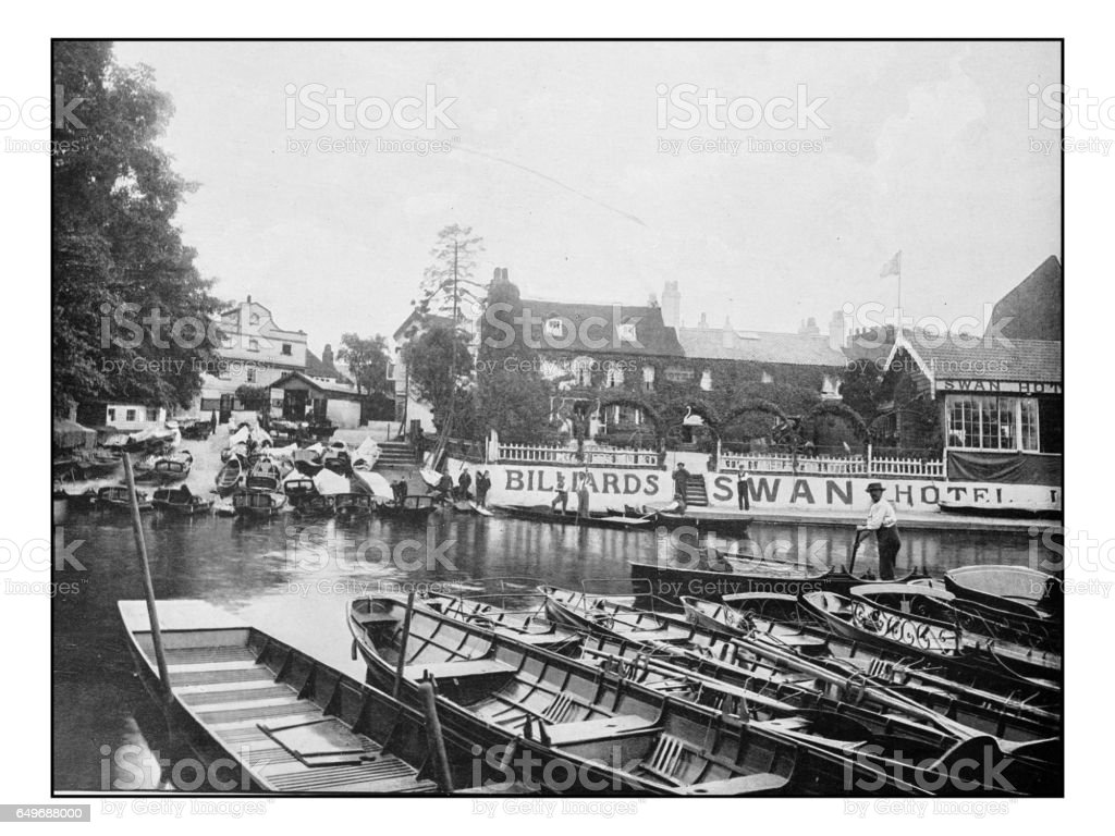 Antique London's photographs: Thames Ditton stock photo