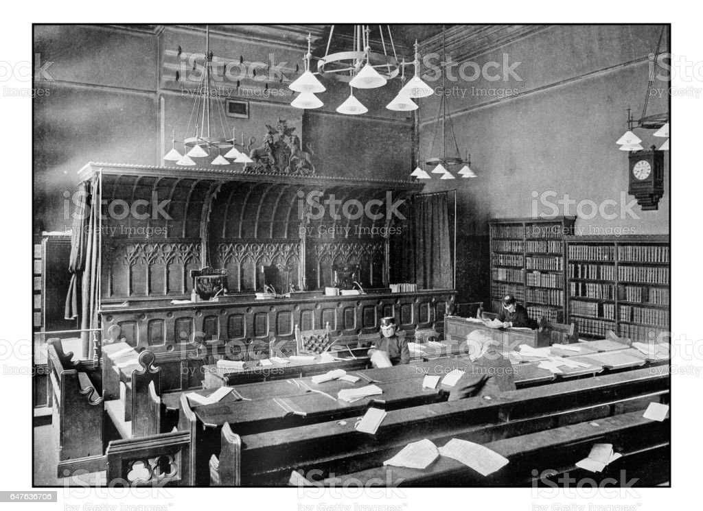 Antique London's photographs: The court of appeal, Royal Palace of Justice stock photo