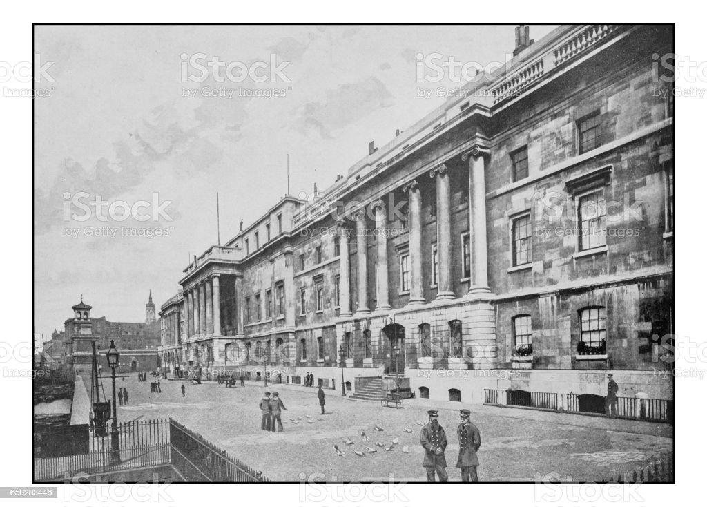 Antique London's photographs: The Customs House stock photo