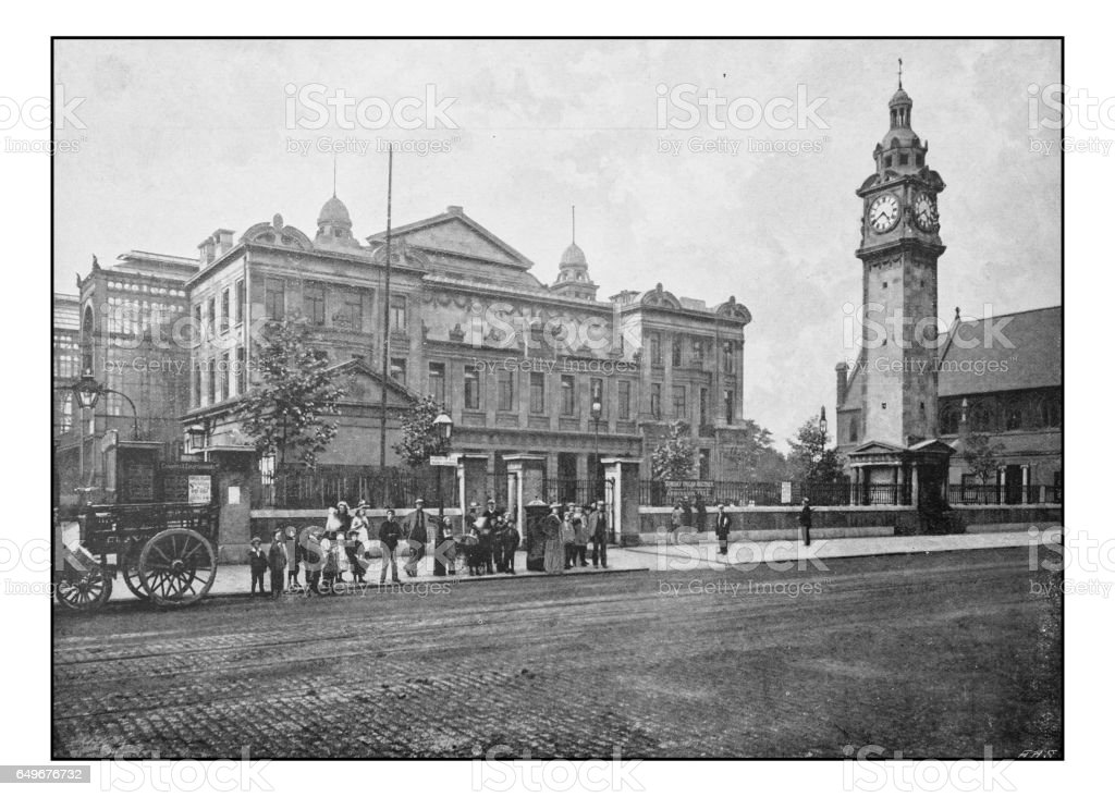 Antique London's photographs: The People's Palace stock photo
