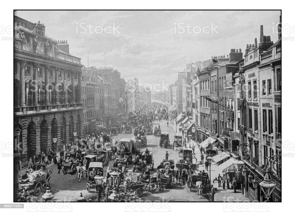 Antique London's photographs: The Strand stock photo
