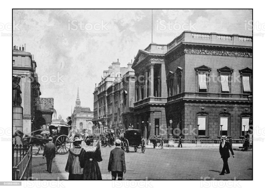 Antique London's photographs: The United Service Club stock photo
