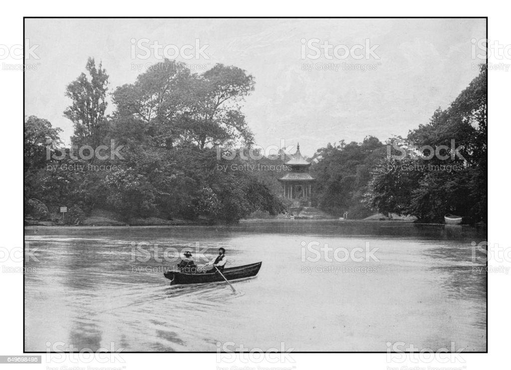 Antique London's photographs: Victoria Park stock photo