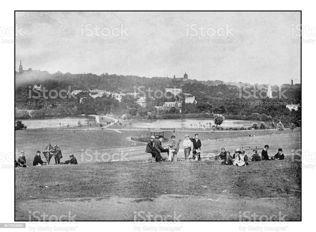 Antique London's photographs: View from Parliament Hill stock photo