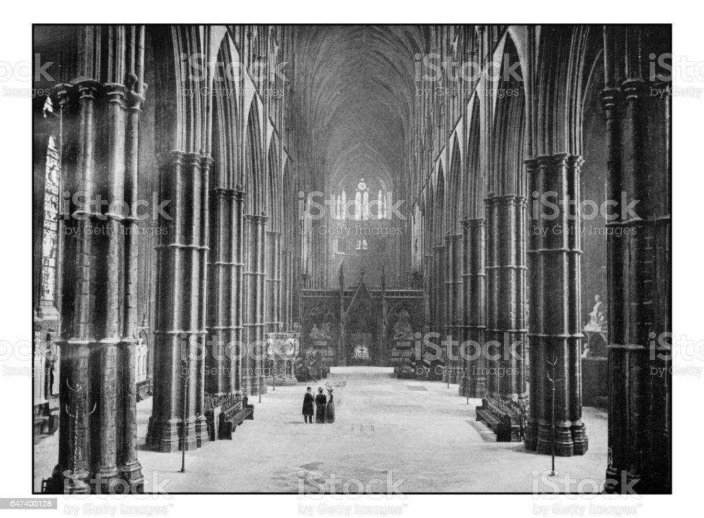 Antique London's photographs: Westminster Abbey, The Nave stock photo