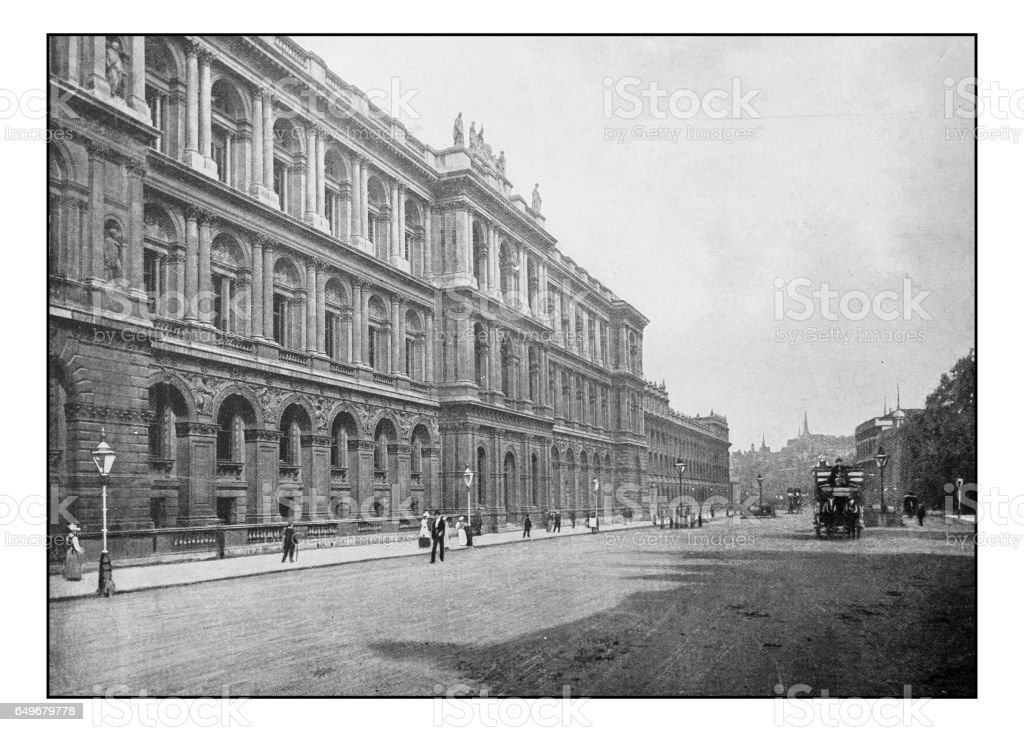 Antique London's photographs: Whitehall, Home office stock photo