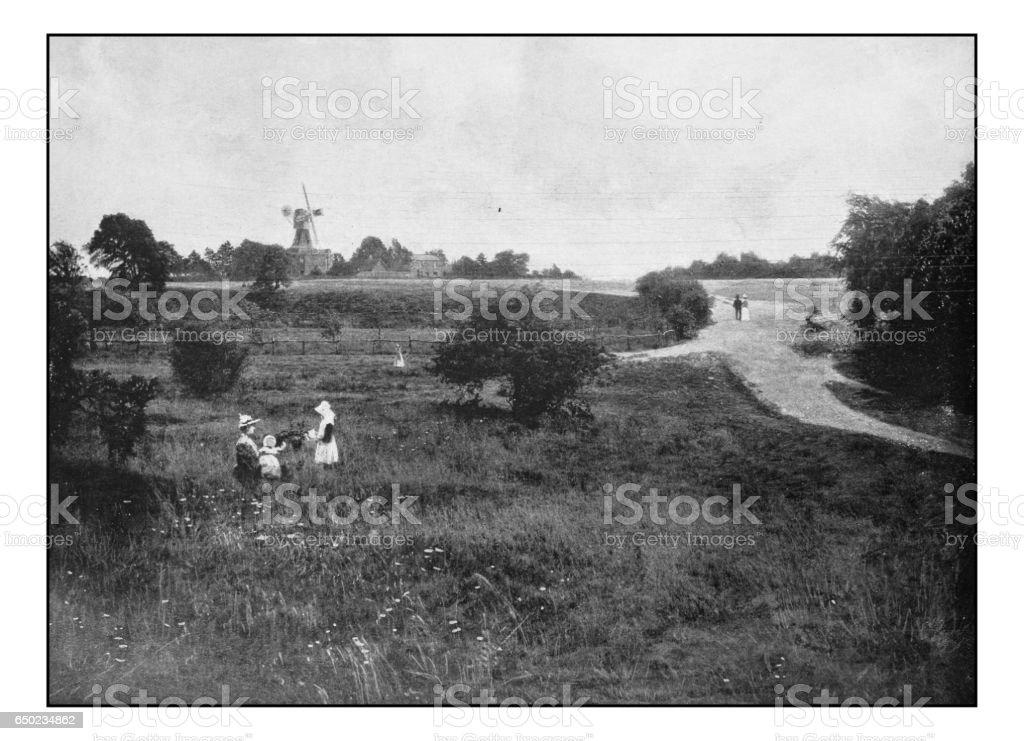 Antique London's photographs: Wimbledon Common stock photo