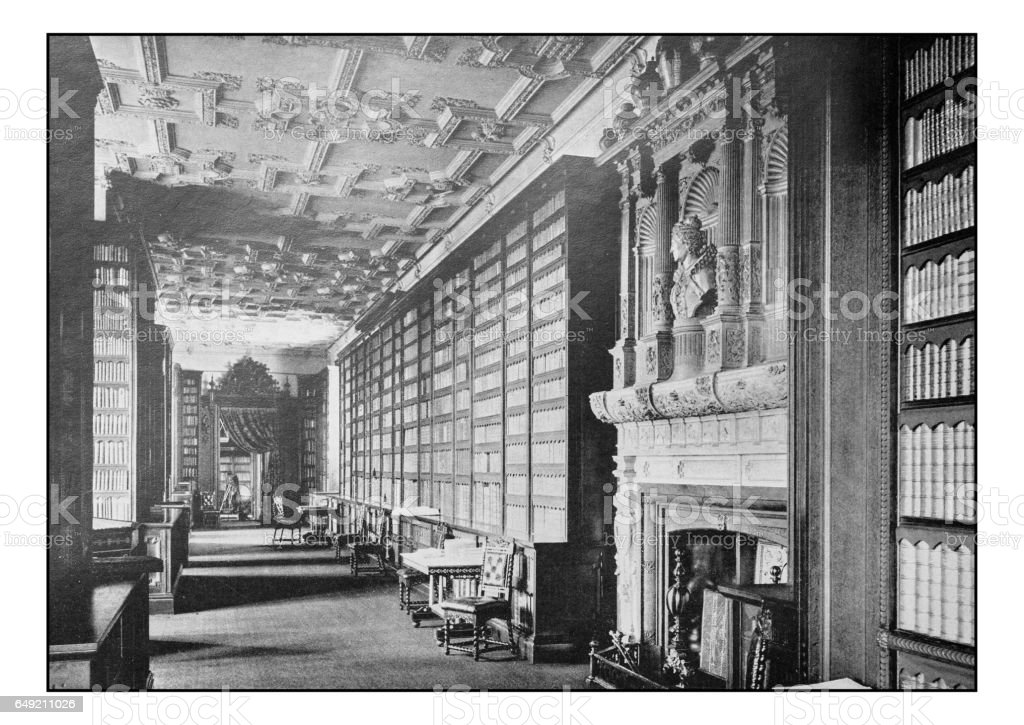 Antique London's photographs: Windsor, Queen Elizabeth's Gallery stock photo
