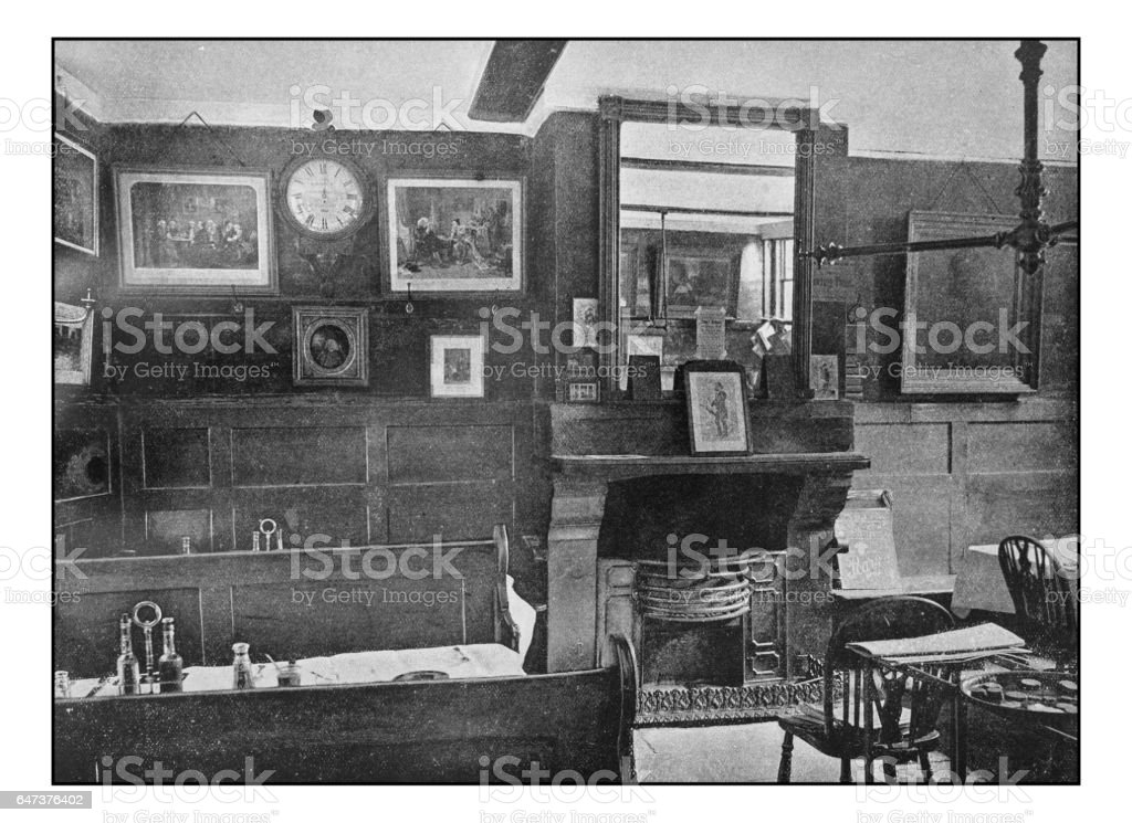 Antique London's photographs: 'Ye old Cheshire Cheese' Pub stock photo