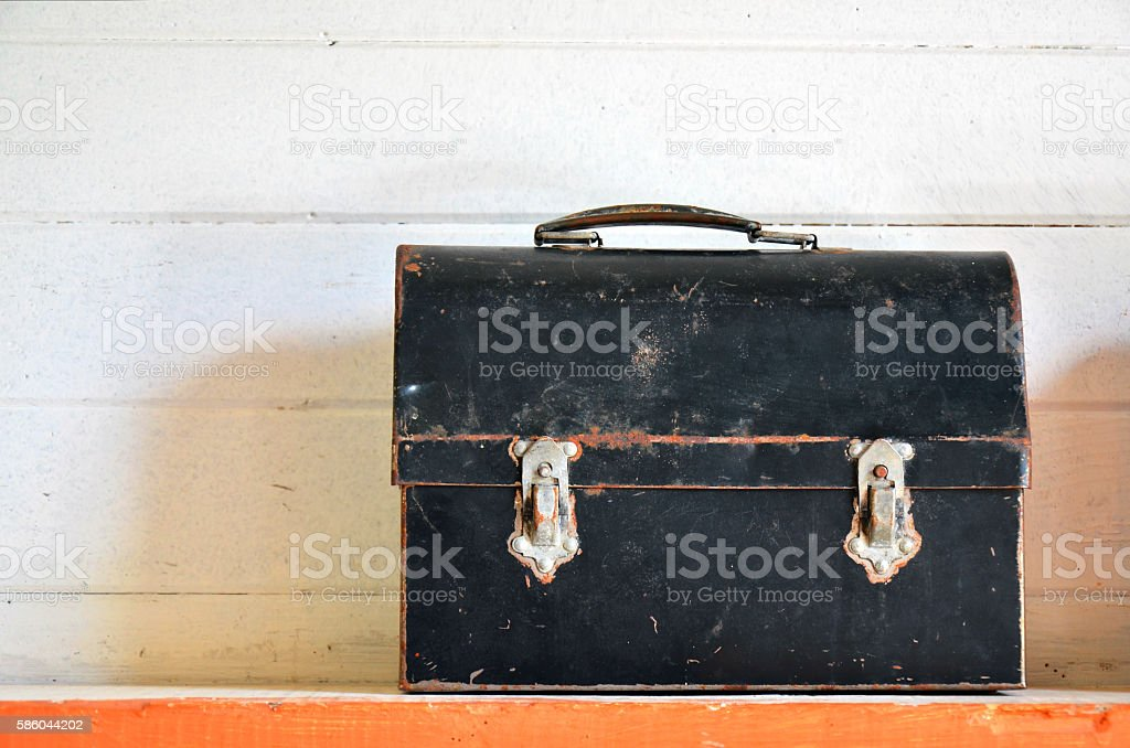 Antique Lunch Box stock photo