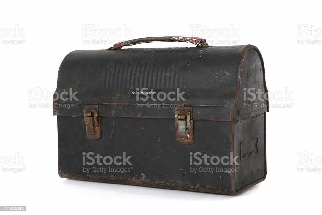 Antique Lunchbox royalty-free stock photo