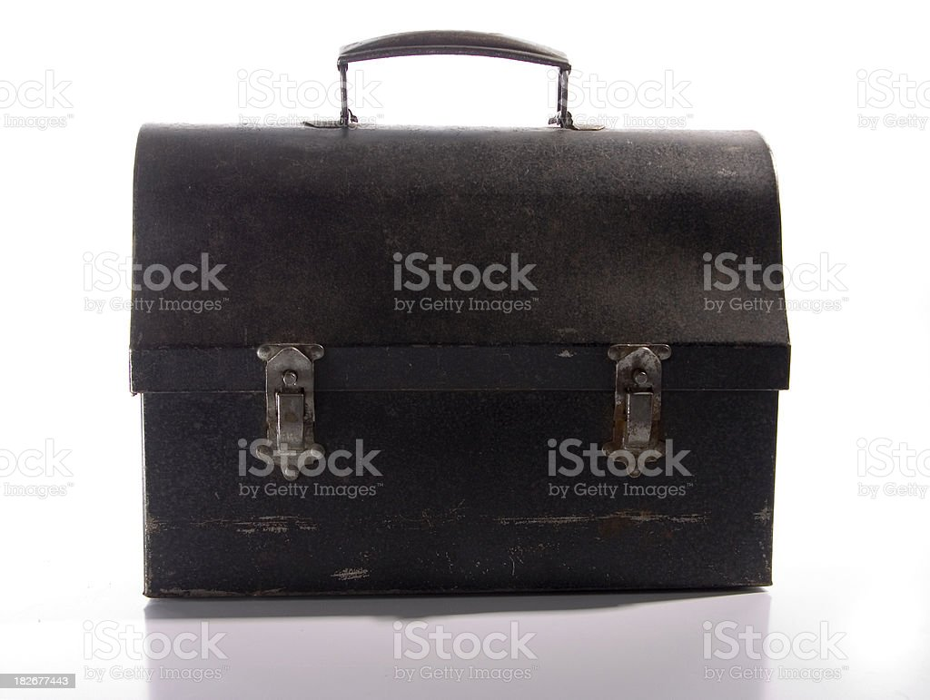 Antique Lunchbox stock photo