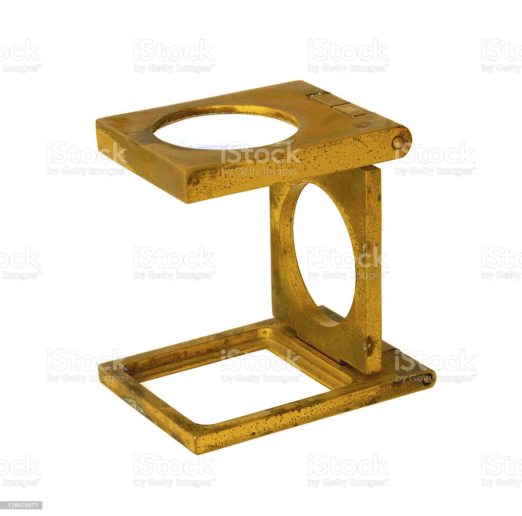 Antique magnifier royalty-free stock photo