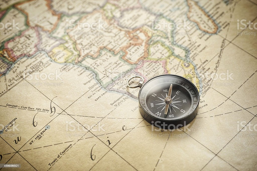 Antique map Africa stock photo