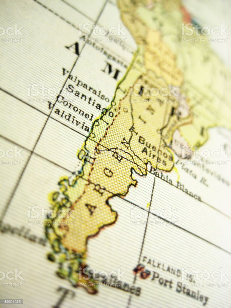 Antique Map Argentina royalty-free stock photo