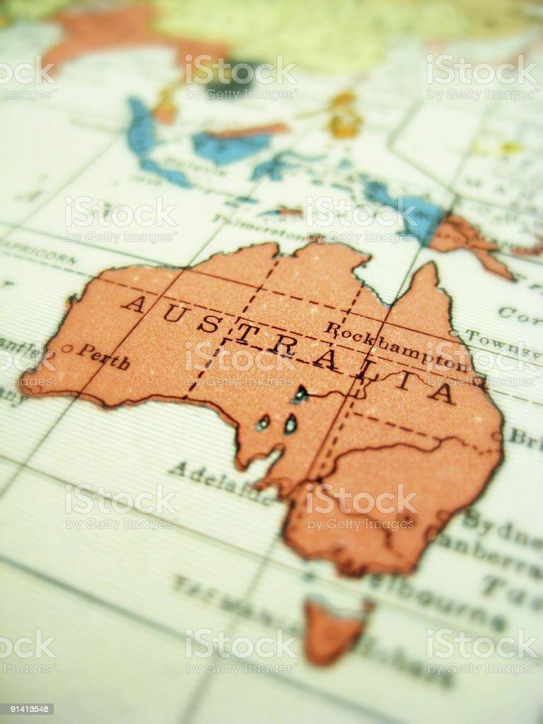 Antique Map Australia stock photo