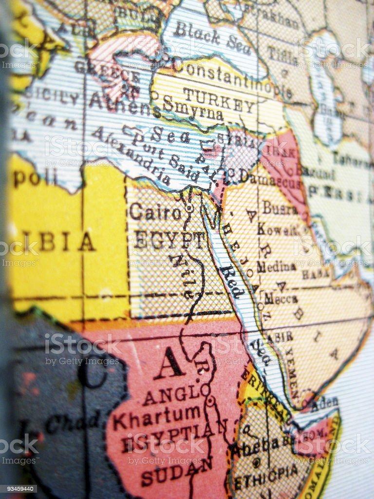 Antique Map Egypt stock photo