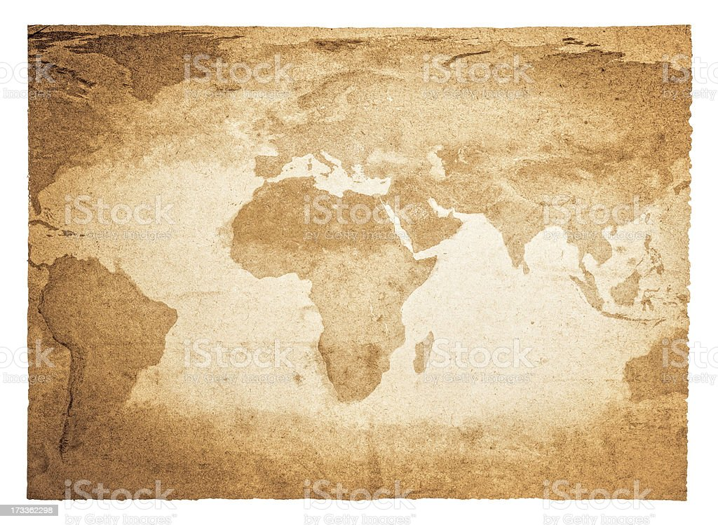 Antique map of the world stock photo