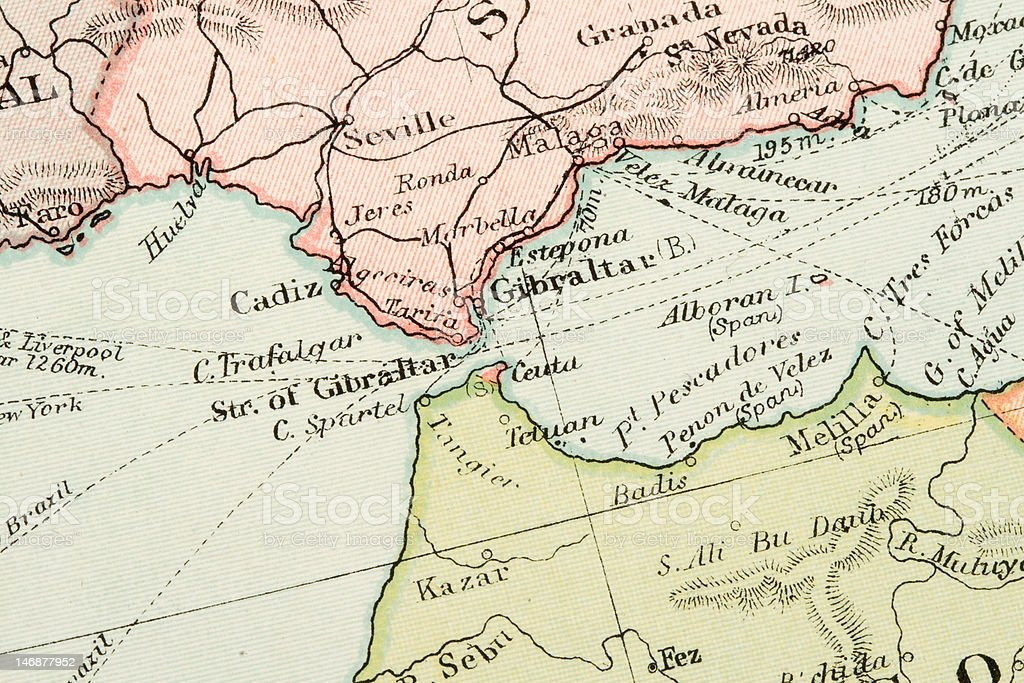 Antique Map royalty-free stock photo