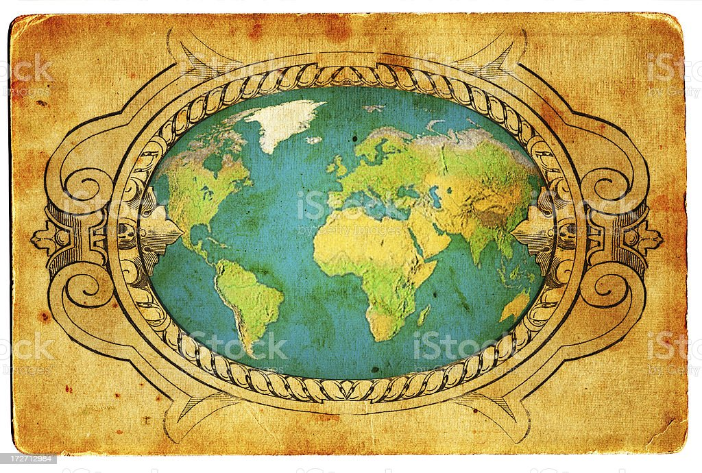 Antique map XXL royalty-free stock photo