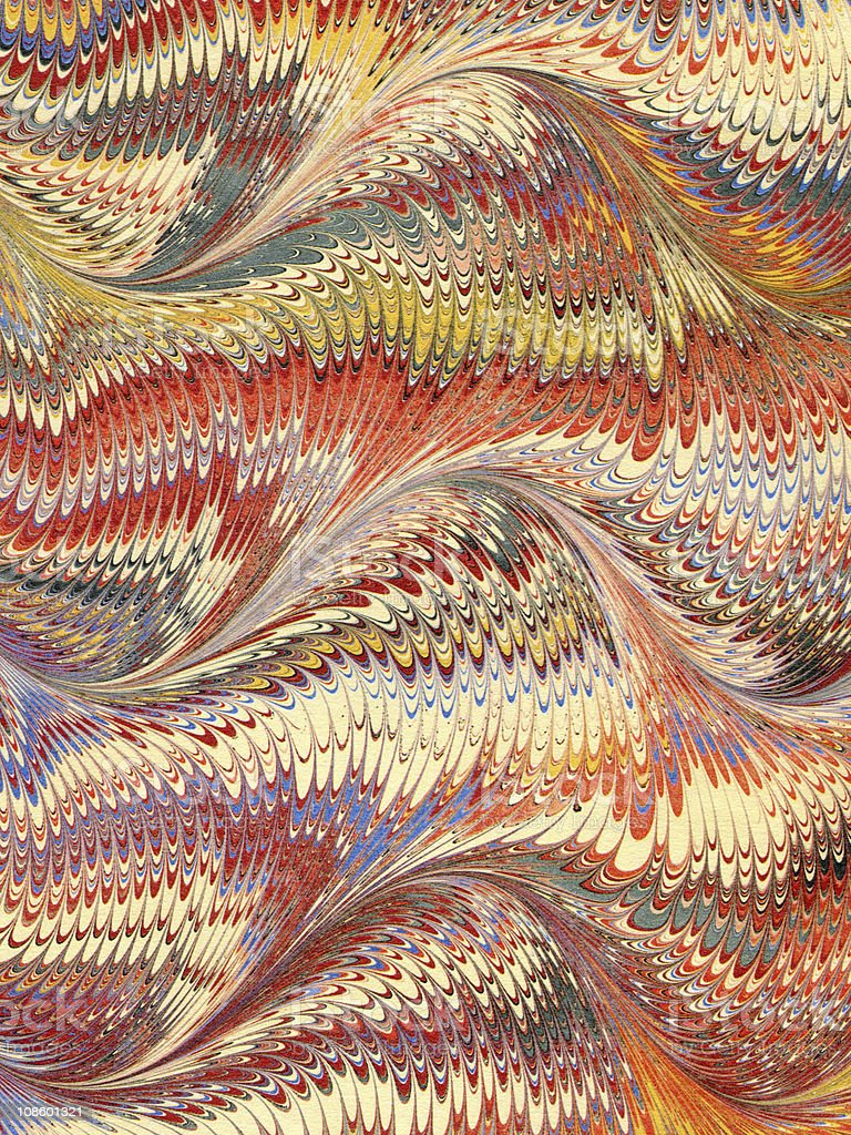 Antique Marbled Paper Background royalty-free stock photo
