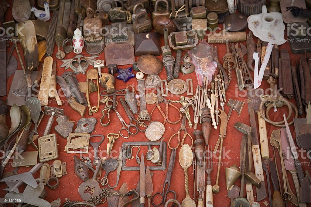antique market. royalty-free stock photo