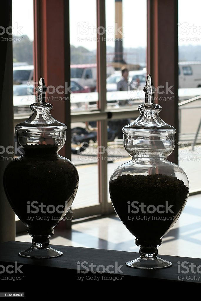 antique massive vases royalty-free stock photo