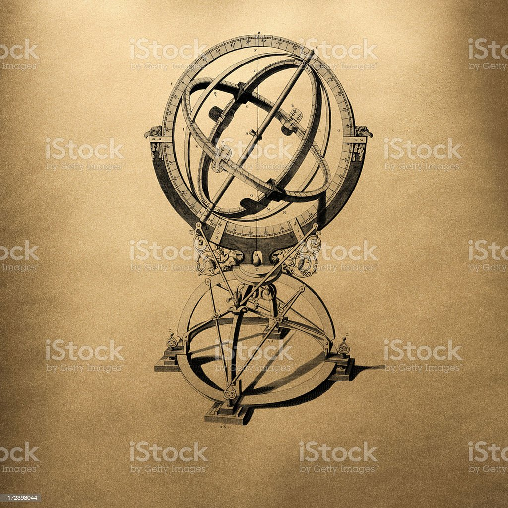antique measuring instrument royalty-free stock photo