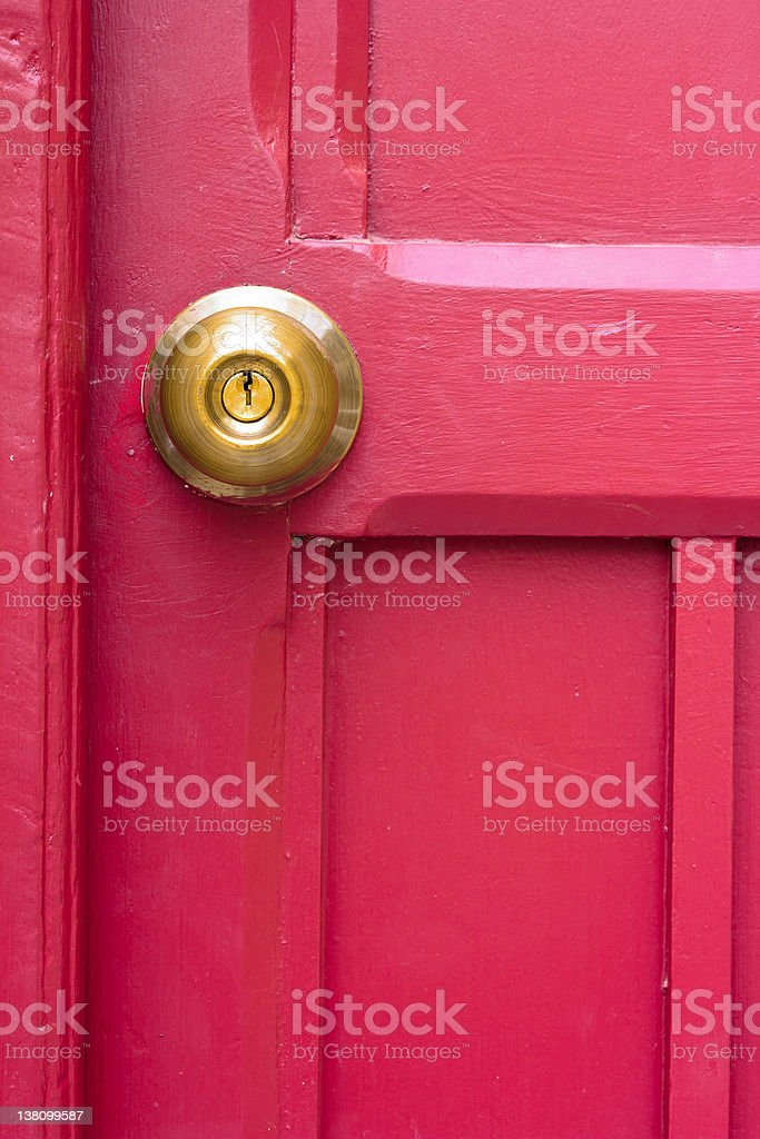 Antique Metal Brass Door Knob stock photo