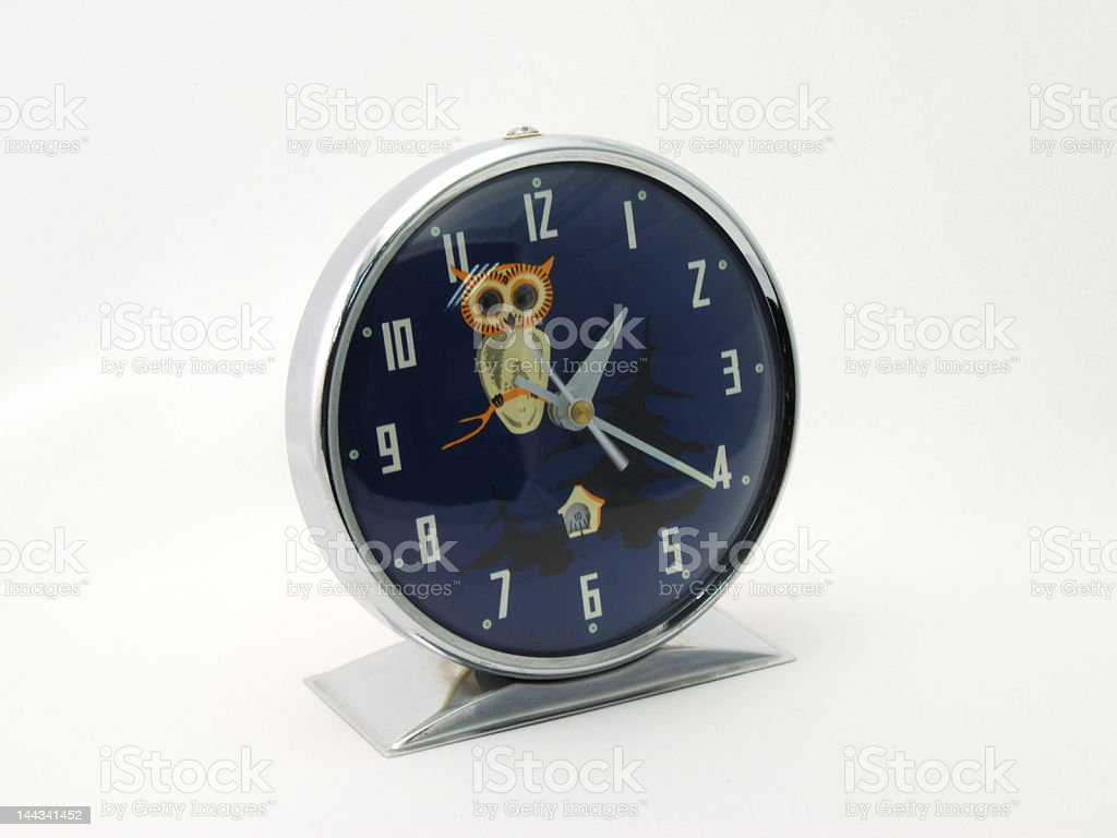 antique metal clock royalty-free stock photo
