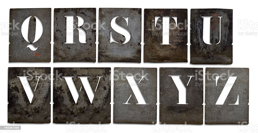 Antique metal stencils royalty-free stock photo