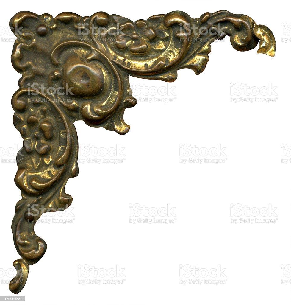 Antique metallic corner royalty-free stock photo