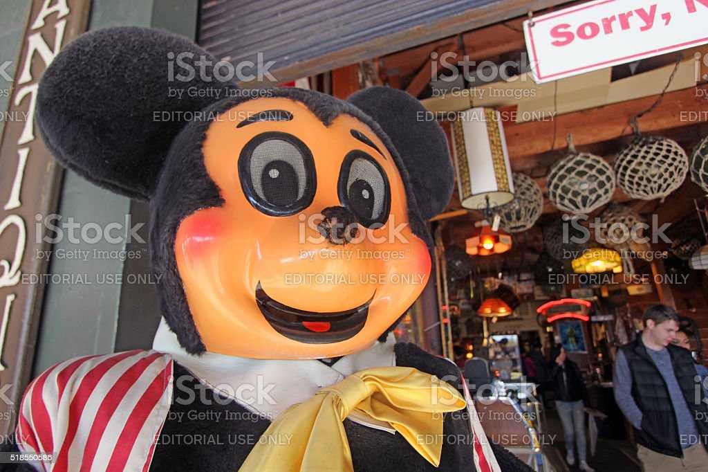 Antique Mickey Mouse stock photo