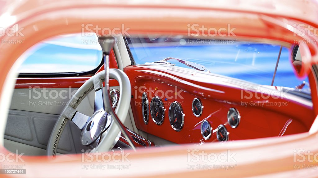Antique Mint Condition Car Interior royalty-free stock photo