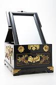 antique mirror stand