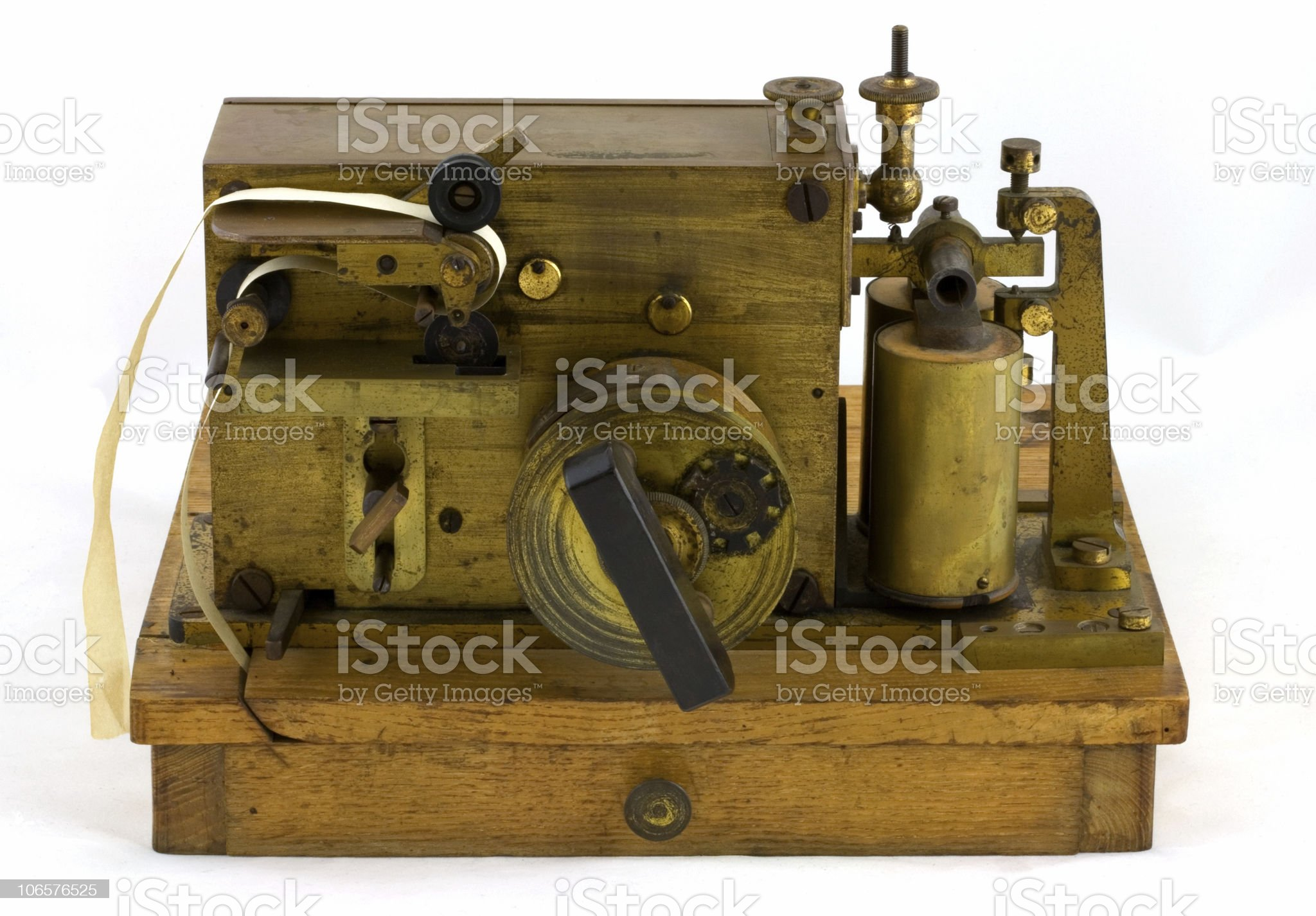 Antique Morse Code Inker royalty-free stock photo