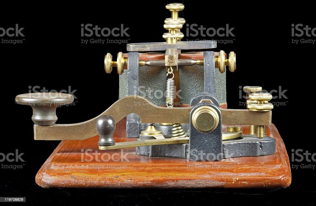 Antique Morse Key stock photo