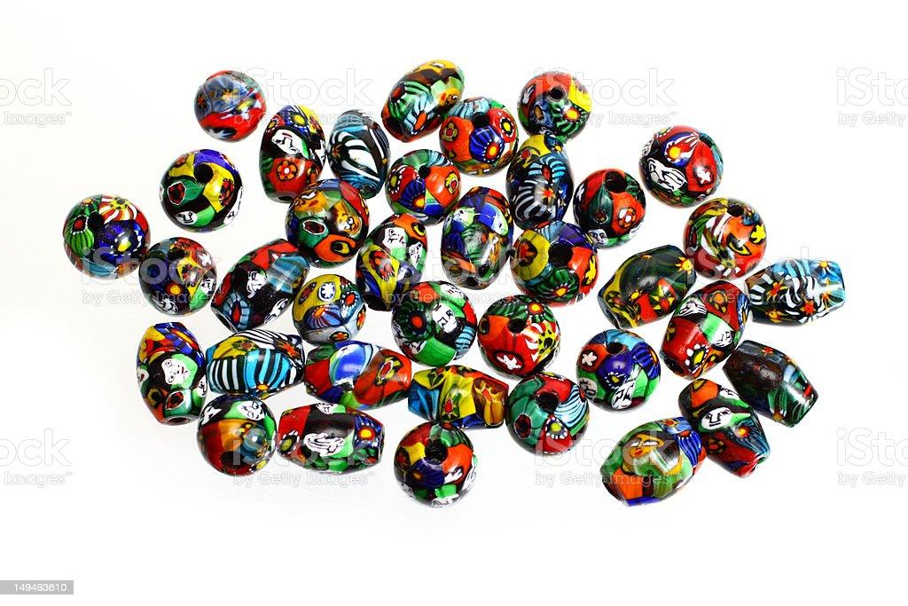Antique Murano Glass Beads stock photo