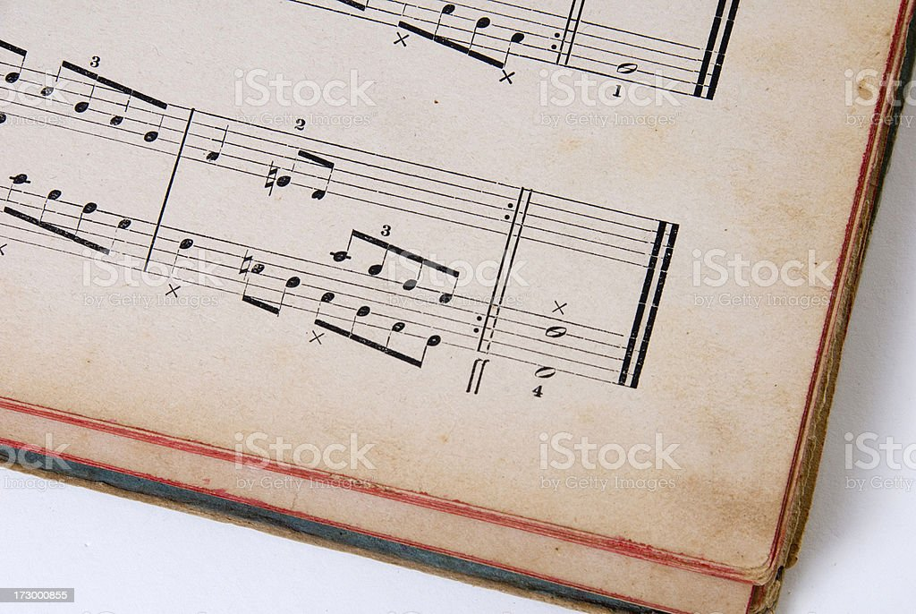 Antique Music Book royalty-free stock photo