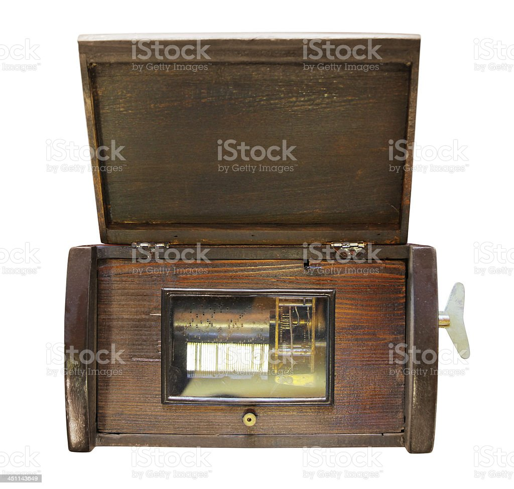 Antique Music Box stock photo