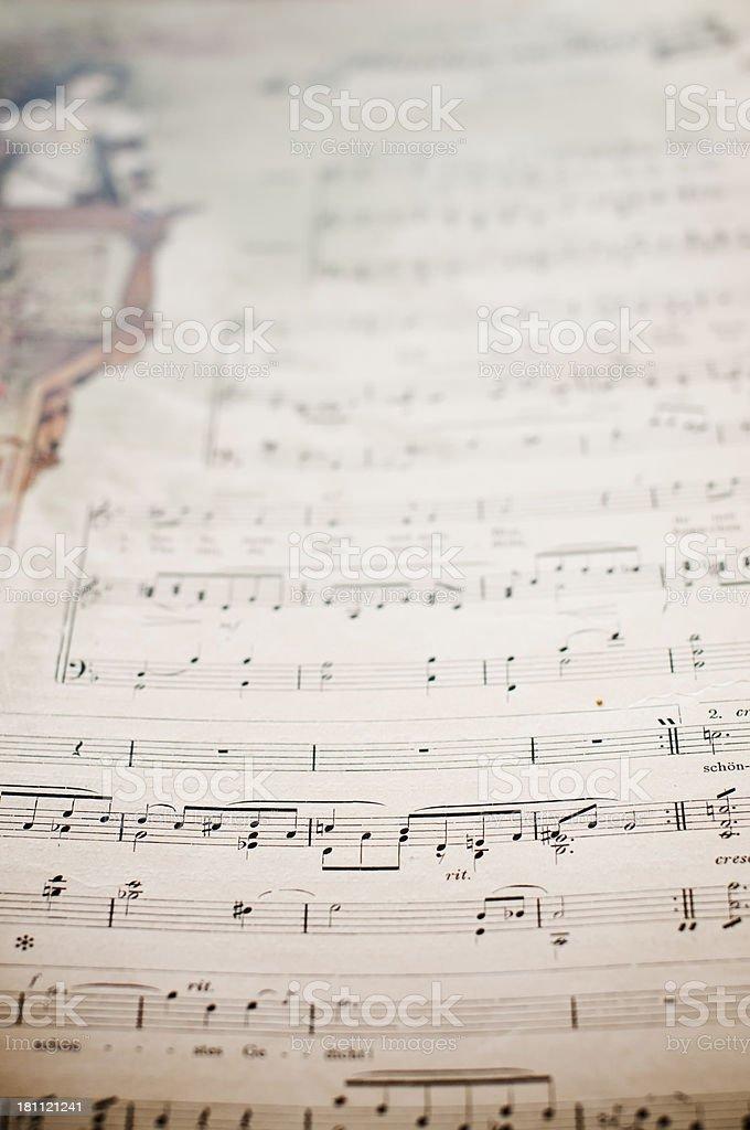 Antique music sheet royalty-free stock photo