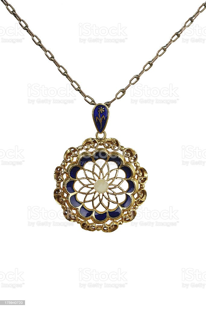 antique necklace royalty-free stock photo