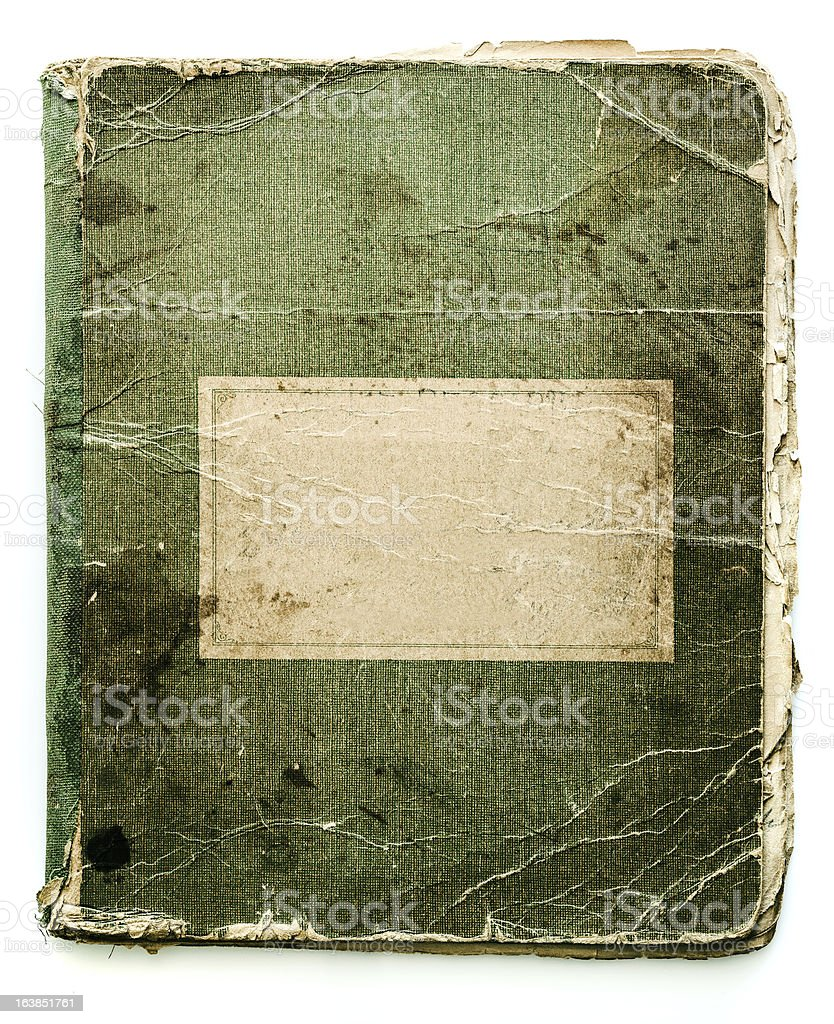 antique notebook cover royalty-free stock photo