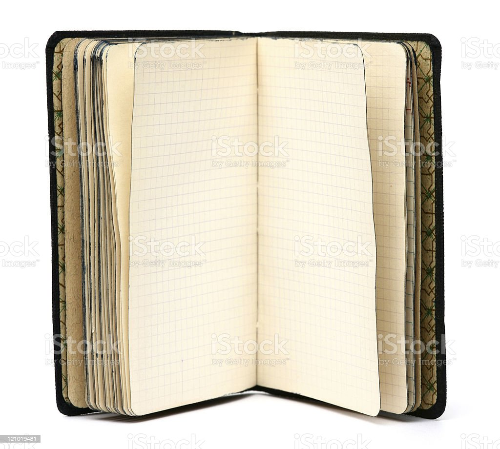 Antique Notebook of 1930s royalty-free stock photo