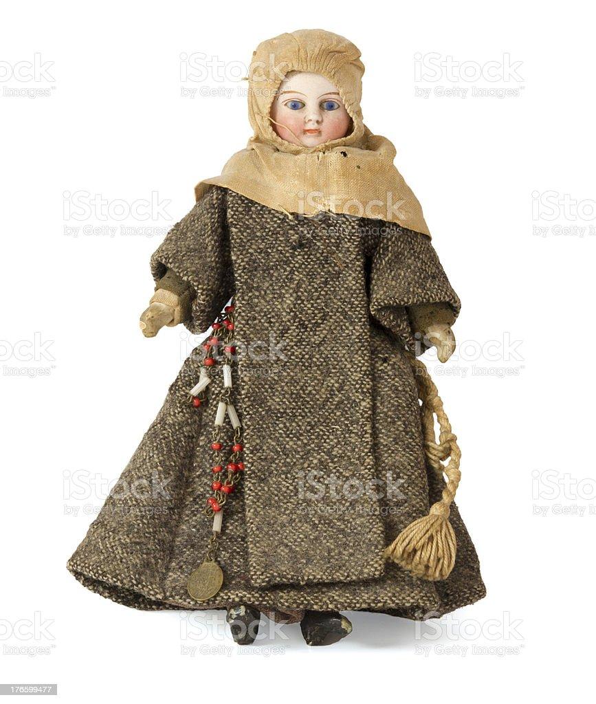Antique nun doll stock photo