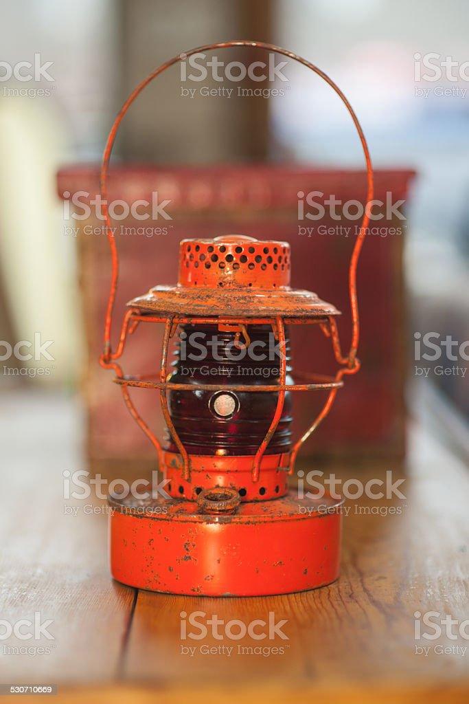 Antique Oil Lamp Lantern stock photo