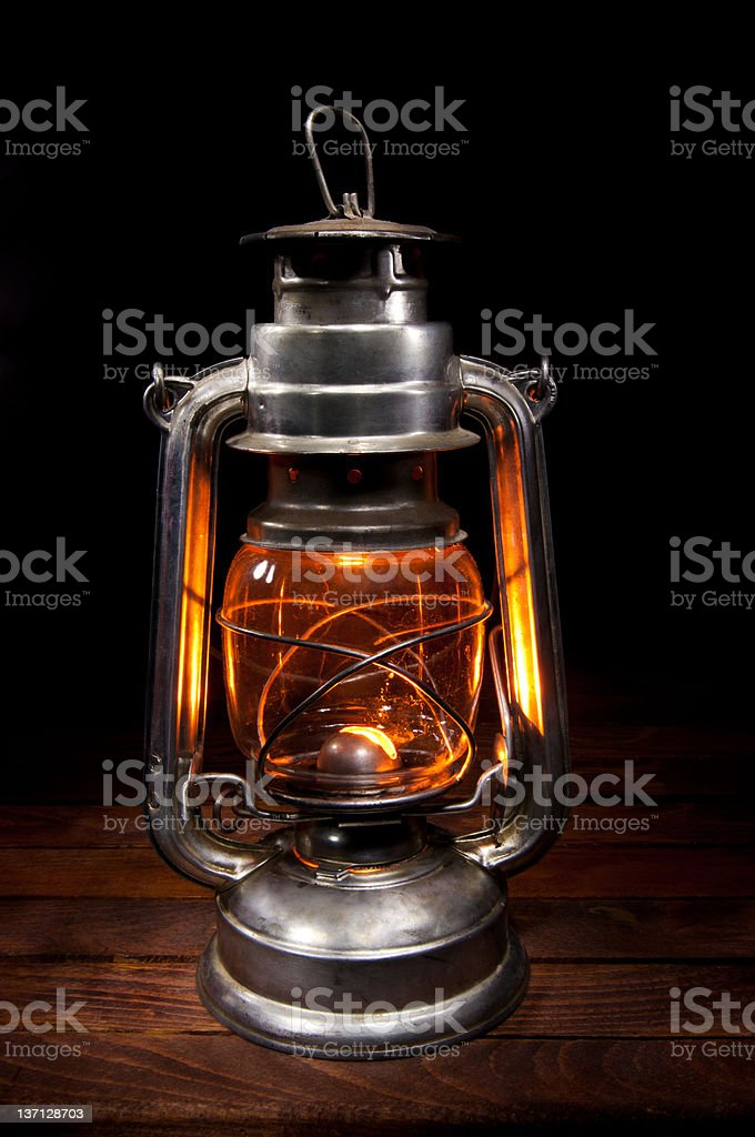 Antique Oil Lamp stock photo
